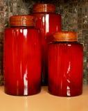 Scatole metalliche di Kitches Fotografia Stock