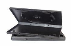 Scatole nere vuote del dvd Fotografie Stock Libere da Diritti