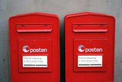 Scatole norvegesi della posta Fotografia Stock Libera da Diritti