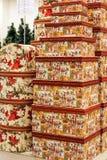 Scatole per i regali di Natale Immagini Stock Libere da Diritti