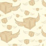 Scatole senza cuciture di volo illustrazione di stock
