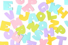 Scatter alphabet paper cut Royalty Free Stock Photos