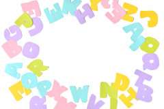 Scatter alphabet paper cut Royalty Free Stock Images