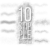 10 scatter dots brushes set. Royalty Free Stock Photo
