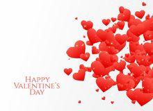 Scatter hearts design for valentine`s day. Illustration Stock Photos