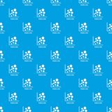 Scatter plot pattern vector seamless blue. Repeat for any use Royalty Free Stock Image