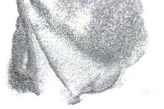 Scatter of silver spangles glitter textured Stock Images