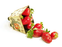 Scatter strawberry Stock Photography