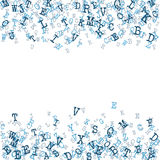 Scattered Alphabet Background  Stock Photography