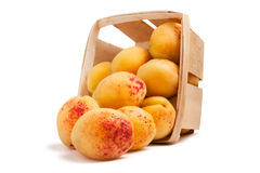 Scattered apricots Royalty Free Stock Photo