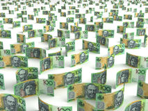 Scattered Australian Dollar Stock Photo