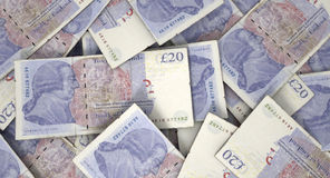 Scattered Banknote Pile Stock Image