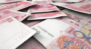 Scattered Banknote Pile Stock Photos