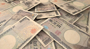 Scattered Banknote Pile Royalty Free Stock Image