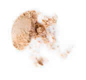 Scattered beige eye shadow Royalty Free Stock Photo
