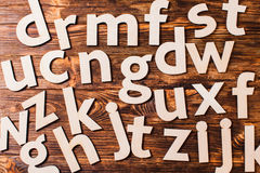 Scattered big letters Stock Photo