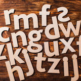 Scattered big letters Stock Photography