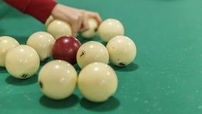 Scattered Billiard Balls Stock Image