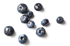 Scattered blueberries Royalty Free Stock Image