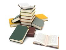 Scattered books Royalty Free Stock Image