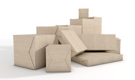 Scattered Box Parcels Stock Photography