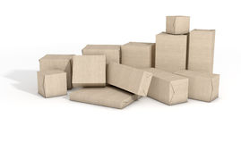 Scattered Box Parcels Royalty Free Stock Photography