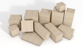 Scattered Box Parcels Royalty Free Stock Image