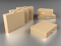Scattered boxes Stock Photography