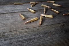 Scattered bullets Royalty Free Stock Images