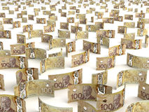 Scattered Canadian Dollar Stock Images