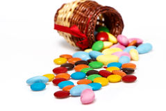 Scattered candies Stock Photo