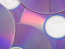 Scattered CDs. Scattered Blank CDs on a White Background royalty free stock images
