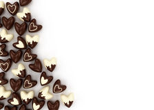 Scattered chocolate candy hearts Royalty Free Stock Photo