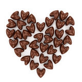 Scattered chocolate candy hearts Stock Photography