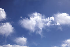 Scattered Clouds Royalty Free Stock Photos