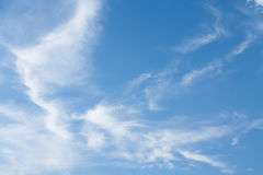 Scattered clouds. Sky with scattered clouds shaped beautifully Stock Photography