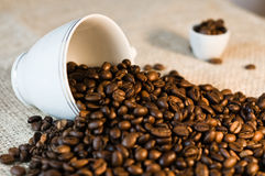 Scattered coffee. Stock Photos