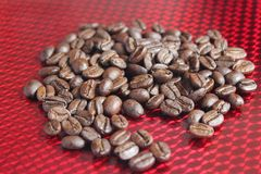Scattered coffee beans Stock Photos