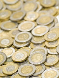 Scattered coins background 2. Royalty Free Stock Photo