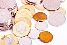 Scattered coins Stock Image