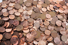 Scattered Collection Of South African Coins 2 Stock Photo