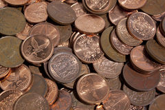 Scattered Collection Of South African Coins 3 Stock Photography