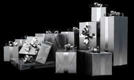 Christmas Gift Wrapped Boxes stock photography