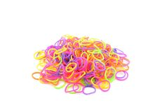 Scattered Colorful Loom Bands Royalty Free Stock Images