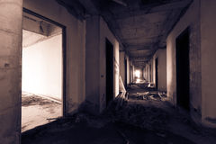 Scattered corridor Royalty Free Stock Photo