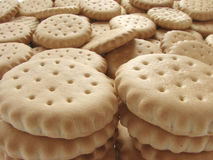 Scattered crackers. As a background Royalty Free Stock Image