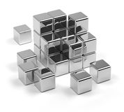 Scattered Cubes Stock Photography