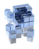 Scattered Cubes Royalty Free Stock Photos