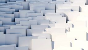 Scattered cubes fast rotation - seamlessly looped abstract 3d background stock footage
