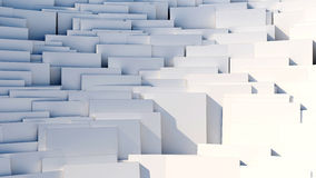Scattered cubes - 8k abstract background. Scattered 3d white cubes - 8k abstract background Stock Photography